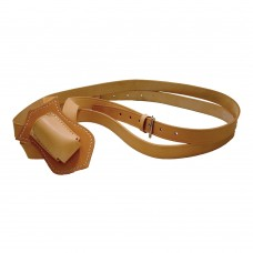 Double Strap Leather Parade Carrying Belt (Tan)