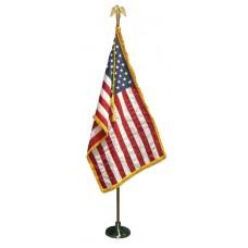 8' Indoor 3x5' U.S. Flag Set