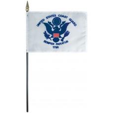 "8x12"" Hand Held Coast Guard Flag"