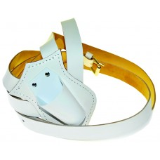 Single Leather Parade Carrying Belt (White)